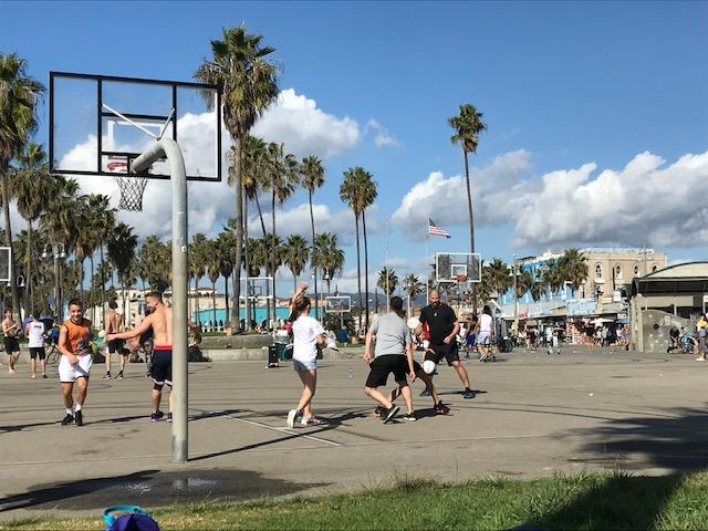 venice beach streetball court